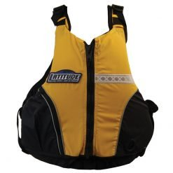 Yellow Latitude kayak life jacket - kayak pfd Australia