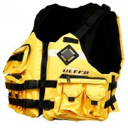 Ultra Sportfish Green Kayak PFD L50s Yellow Front - Freak Sports Australia