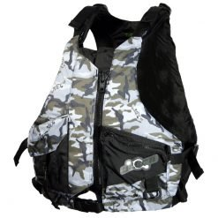 Ultra Gorge PFD L50s Camo Fishing Life Jacket Front