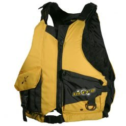 Ultra Gorge PFD L50s Camo Fishing Life Jacket Yellow Front
