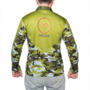 Green Camo Fishing Shirt Back