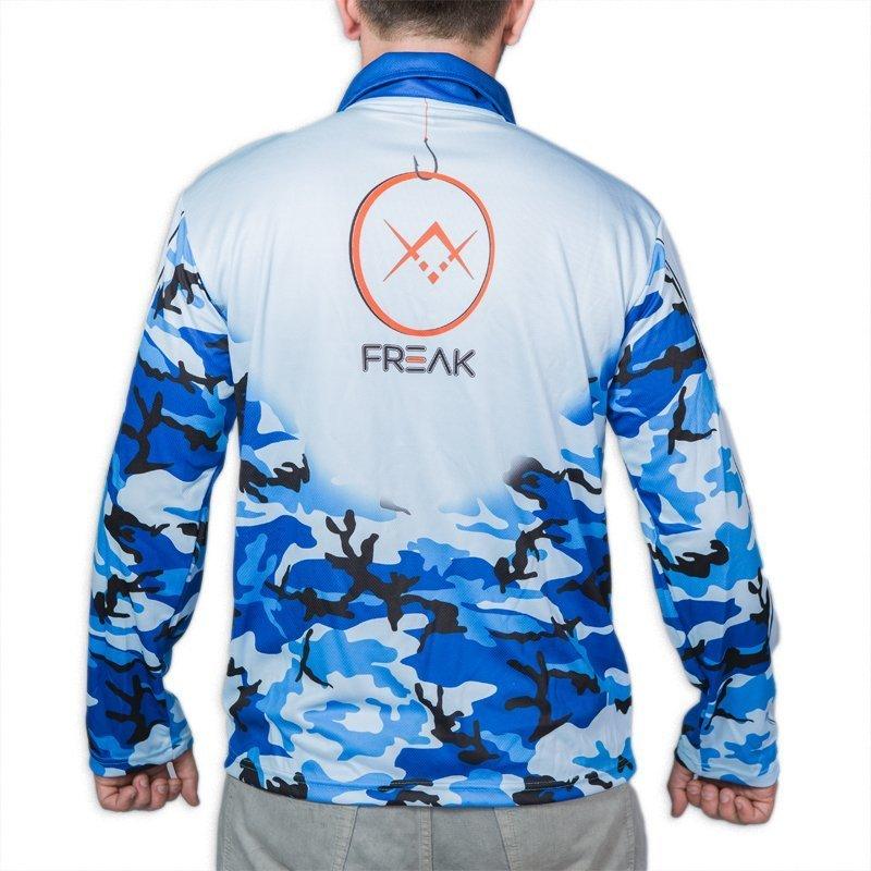 Freak marine camo long sleeve fishing shirt for Fishing long sleeve shirts