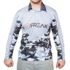 Fishing Shirt Black White Camo - Freak Sports Australia