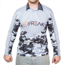 Fishing Shirt Black White Camo