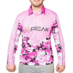 Purple Camo Fishing Shirt Front