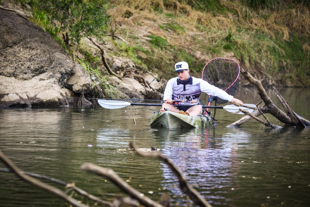 Assassin GT Fishing Kayak On Water - Freak Sports Australia