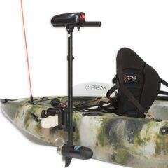 Electric Kayak Motor Mounted on Kayak - Freak Sports Australia