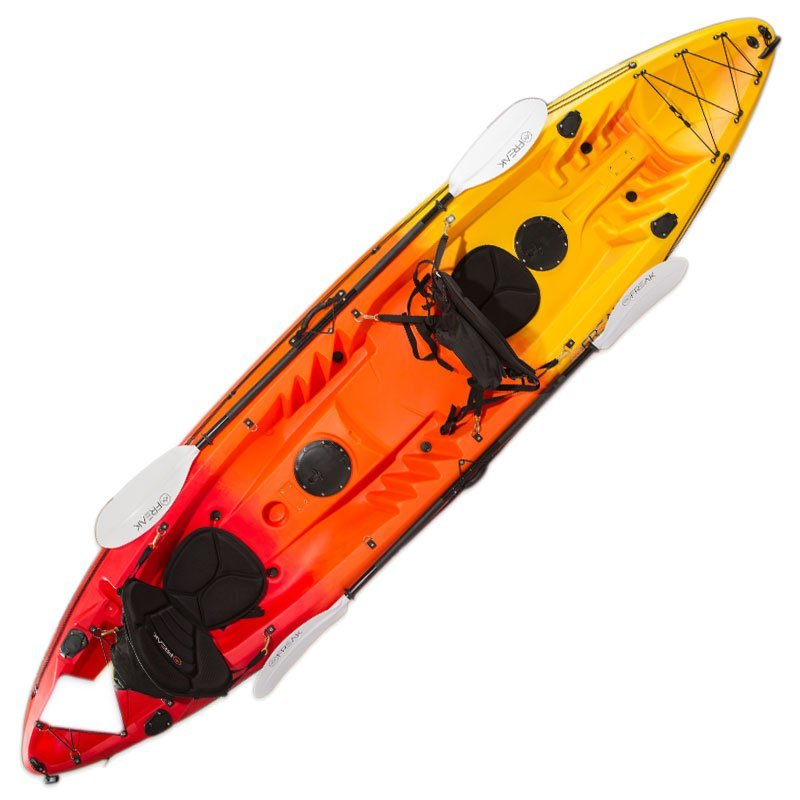 Double agent tandem fishing kayak package flame ebay for Tandem fishing kayak