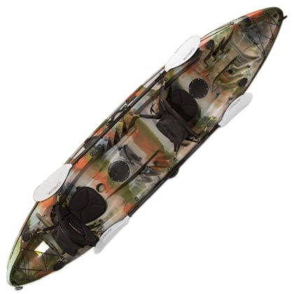 Double Agent Tandem Recreational Kayak Package Forest