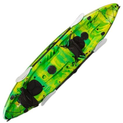Double Agent Tandem Recreational Kayak Package Lime