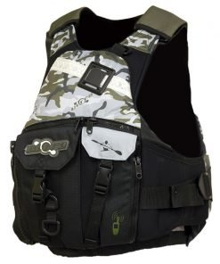 Ultra Trek Adult Kayak L50s Camo PFD Front - Freak Sports Australia