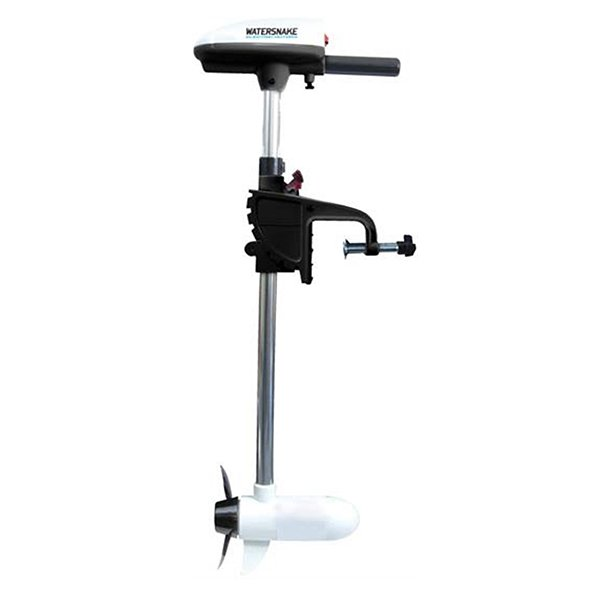 Watersnake asp t24 transom mount electric trolling motor for Mounting a transom mount trolling motor on the bow