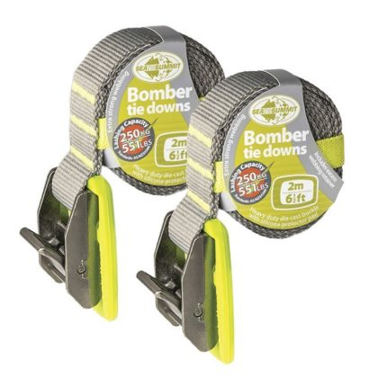 Bomber Tie Down Straps Pair 2m - Freak Sports Australia