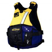 Ultra Trek Yellow Adult Kayak L50 PFD Front - Freak Sports Australia