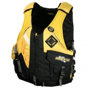 Ultra Pinnacle Yellow Adult Kayaking L50 PFD Front - Freak Sports Australia