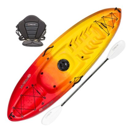 Scout Sit On Top Recreational Adult and Kids Kayak Package Flame