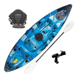 Viper 3.0 Sit On Top Fishing and Recreational Kayak Package Marine
