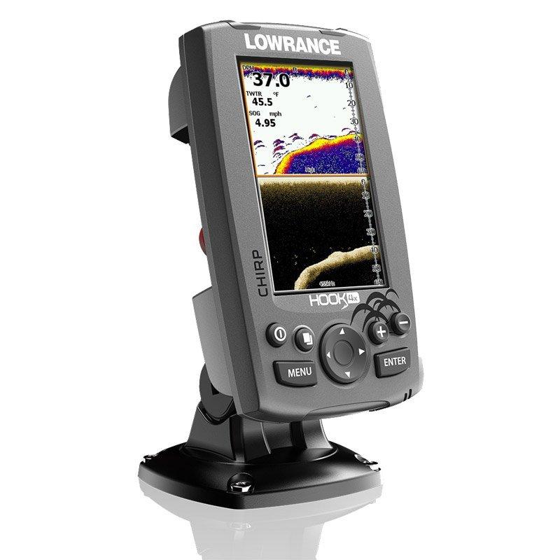 lowrance hook 4x chirp sonar downscan imaging fishfinder 83 200 455 800 ebay. Black Bedroom Furniture Sets. Home Design Ideas