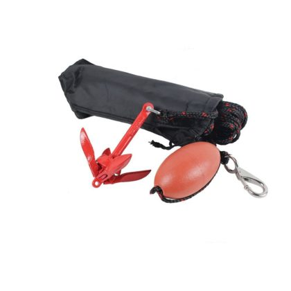 Kayak Folding Anchor Kit with 10m Rope Bag 0.7kg