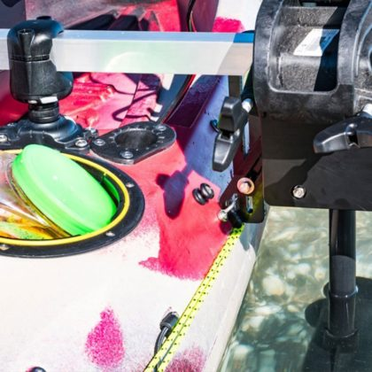 Kayak motor mount