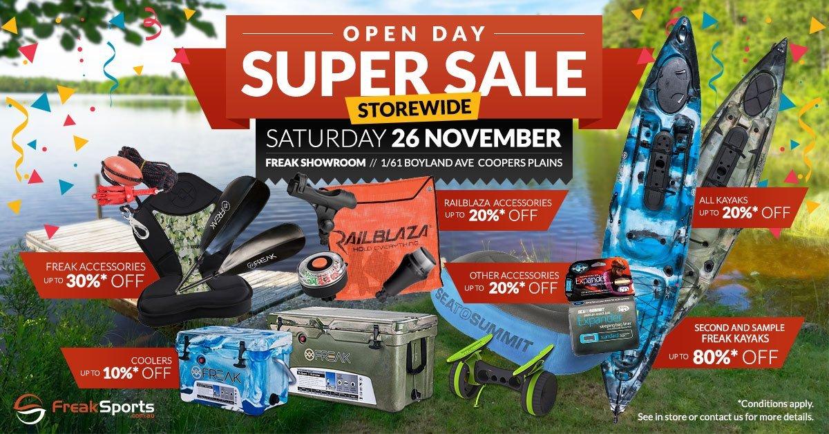 Brisbane Open Day Super Sale - Freak Sports Australia