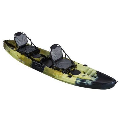 Double Agent Tandem Recreational Kayak Package Army Camo