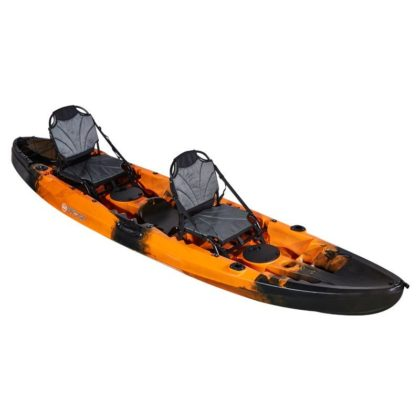 Double Agent Tandem Recreational Kayak Package Flame