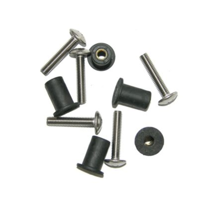 Well Nut Kit with Stainless 25mm Screws 4 Pack
