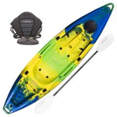 Freak Eskimo tandem recreational kayak package emerald