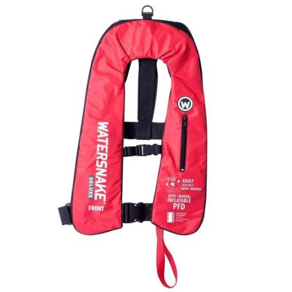 Watersnake Deluxe Inflatable PFD Level 150 Red