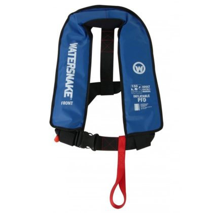 Watersnake Manual Inflatable PFD Level 150 Blue
