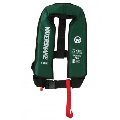 Watersnake Manual Inflatable PFD Level 150 Green