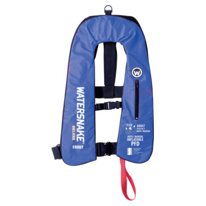 Watersnake Deluxe Inflatable PFD Level 150 Blue