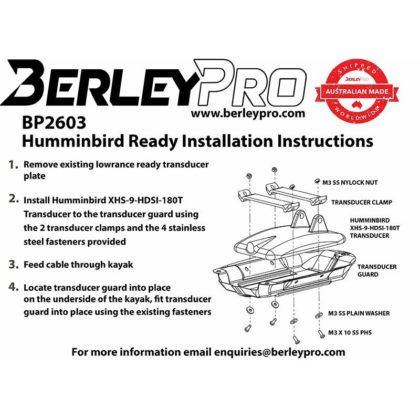 BerleyPro Humminbird Ready Transducer Mount
