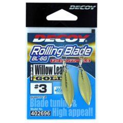 Decoy Rolling Blade Fishing Hooks Gold
