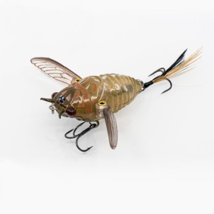 Chasebaits Ripple Cicada Hollow Body Soft Lure Brown Drummer
