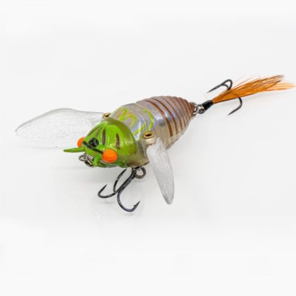 Chasebaits Ripple Cicada Hollow Body Soft Lure Green Blue Pearl