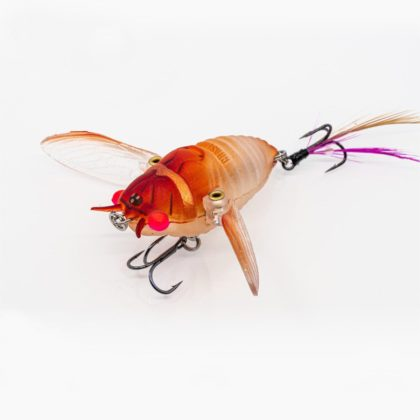 Chasebaits Ripple Cicada Hollow Body Soft Lure Pink Stunner