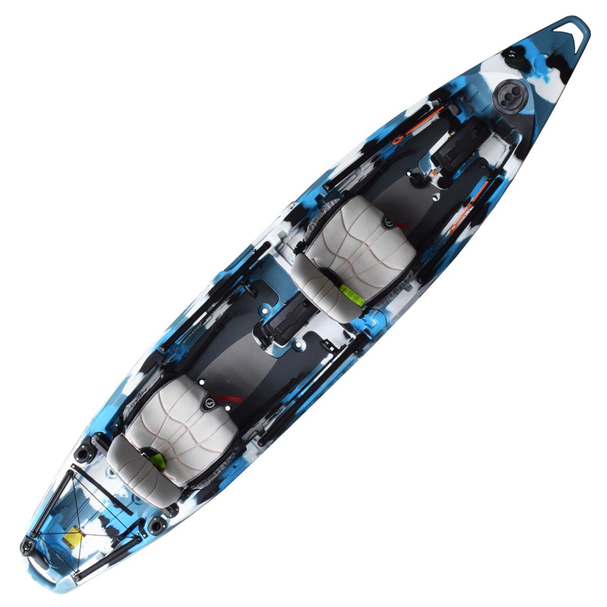 Feelfree Lure II Overdrive Tandem Fishing Kayak Blue Camo