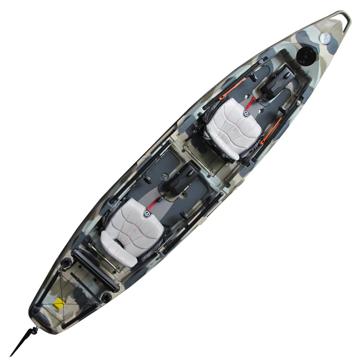 Feelfree Lure II Overdrive Tandem Fishing Kayak Desert Camo