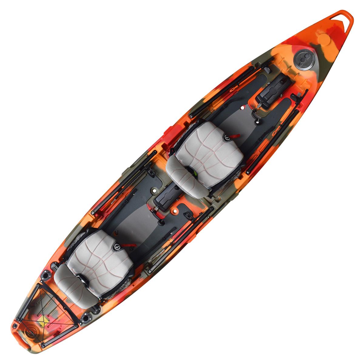 Feelfree Lure II Overdrive Tandem Fishing Kayak Fire Camo
