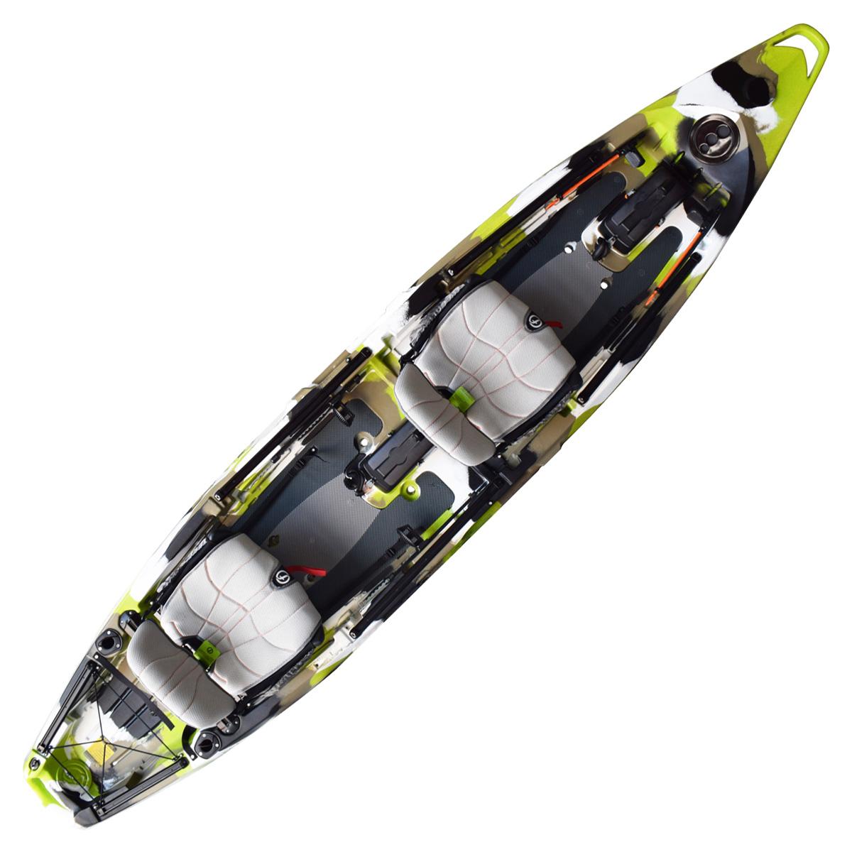 Feelfree Lure II Overdrive Tandem Fishing Kayak Lime Camo