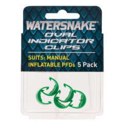 Watersnake Green Oval Indicator Clips for Manual Inflatables