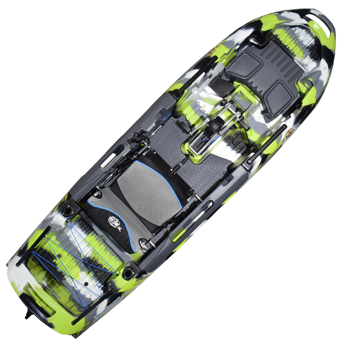 3 Waters Big Fish 108 Pedal Kayak Green Camo