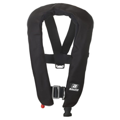 Baltic Winner 150 Zip Inflatable PFD with Harness Black