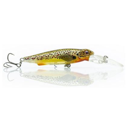 Chasebaits Gutsy Minnow Shallow Hard Body Lure Brown Trout
