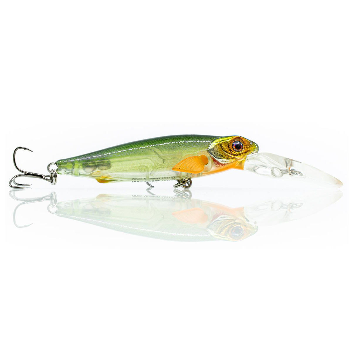 Chasebaits Gutsy Minnow Shallow Hard Body Lure Green Pearl