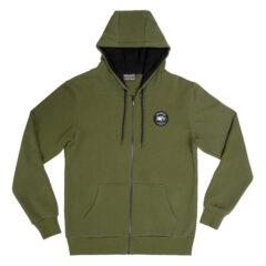 Desolve Scale Zip Hoodie Khaki Green