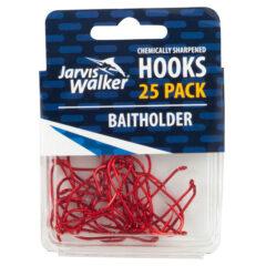 Jarvis Walker Chemically Sharpened Red Baitholder Fishing Hooks